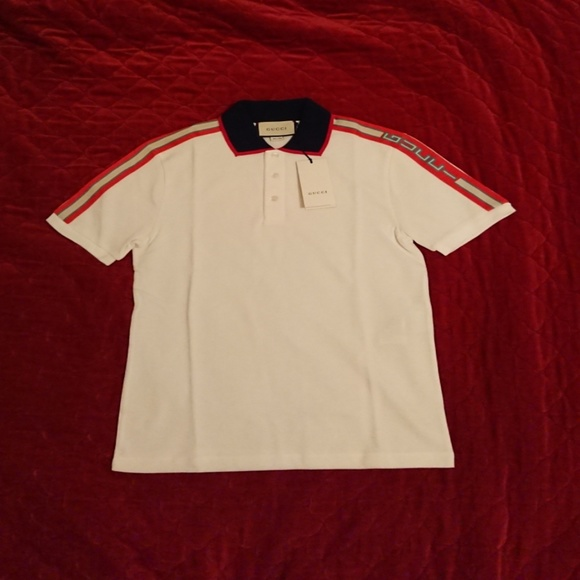 b6f163ab67a GUCCI 2018 SPRING COLLECTION mens size Large polo.